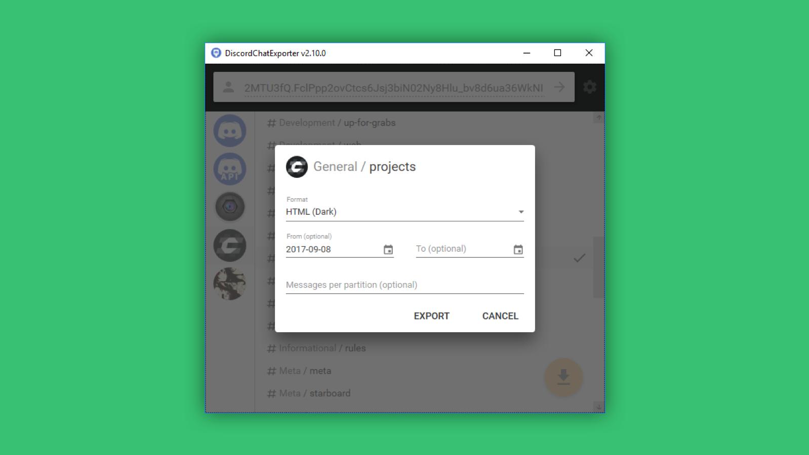 DiscordChatExporter - BuiltWithDot Net
