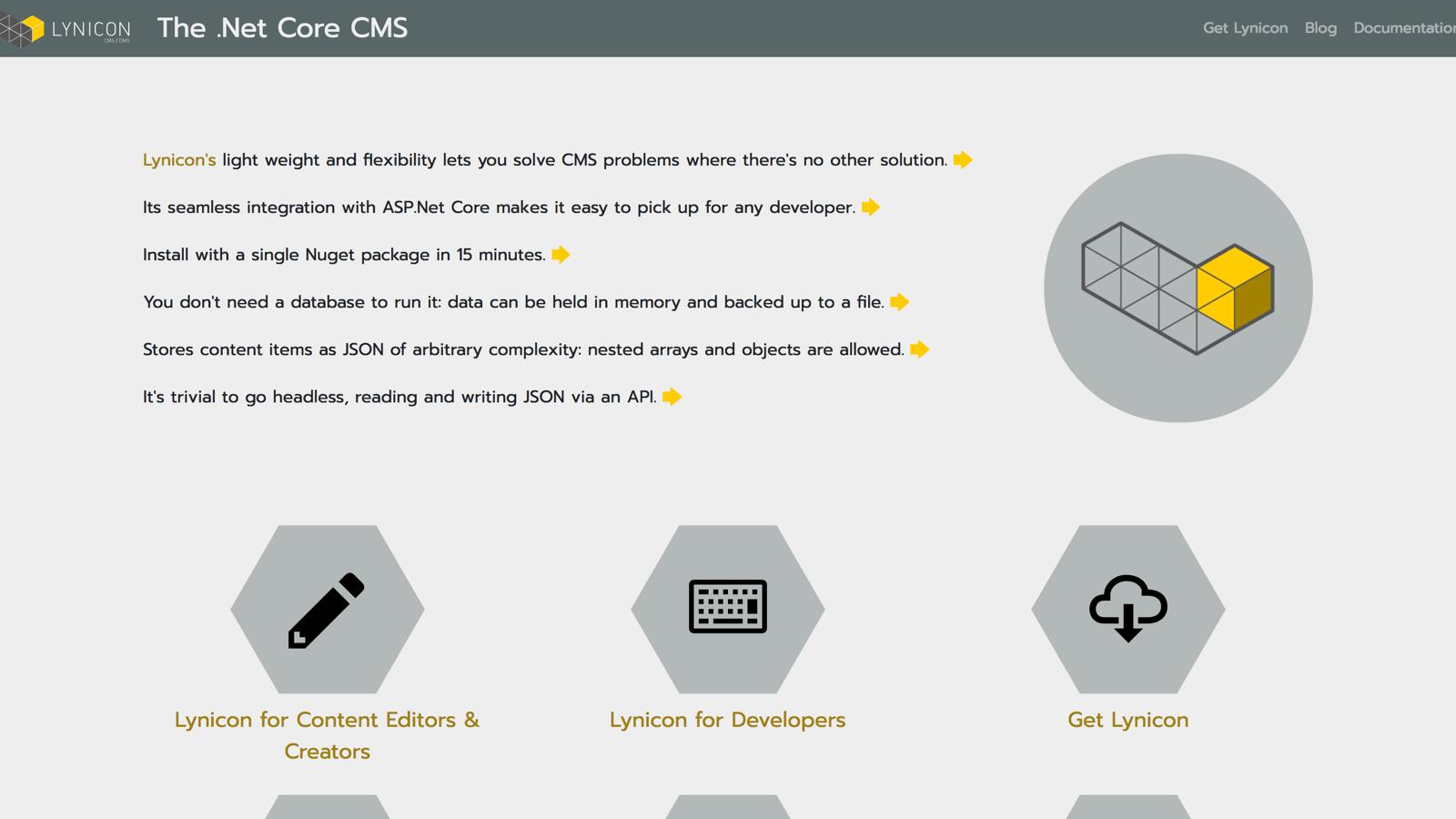 Lynicon asp net core CMS - BuiltWithDot Net